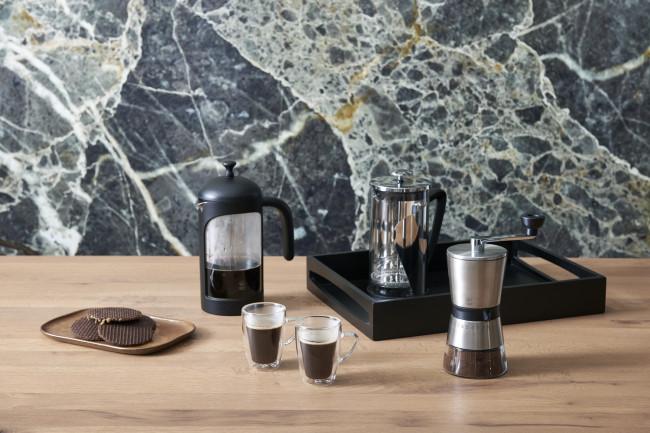 Moulin à café Bologna acier inox + verre