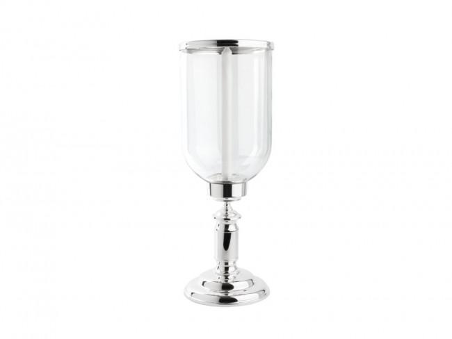 Photophore Icona ø19x51,5cm verre+arg/laq