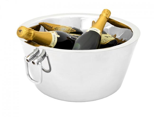 Vasque à champagne double paroi acier inox