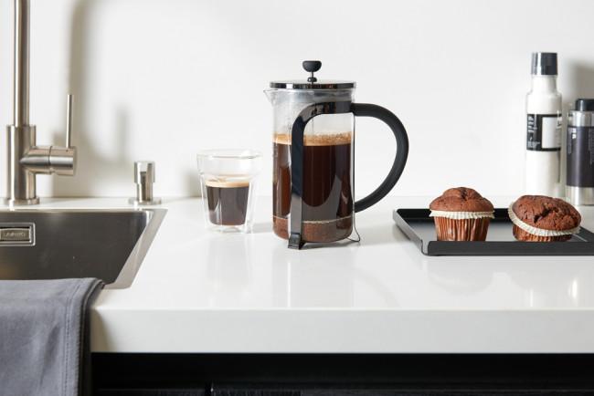 Cafetière & théière Shiny Black 1,0L
