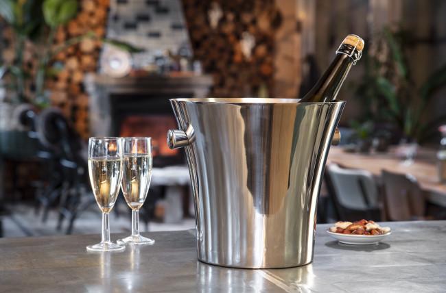 Seau à champagne simple paroi acier inox