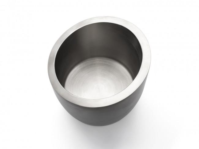 Seau à glace d. paroi 2,5L acier inox mat